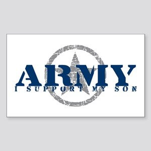 Army - I Support My Son Rectangle Sticker
