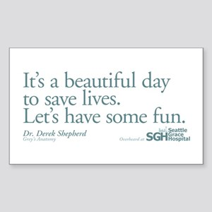 Save some lives. - Grey's Anatomy Sticker (Rectang