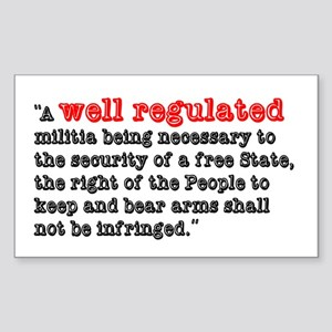Regulated Sticker