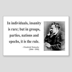 Nietzsche 18 Rectangle Sticker