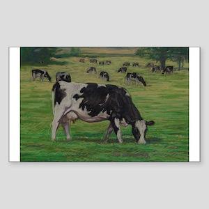 Holstein Milk Cow in Pasture Sticker (Rectangle)