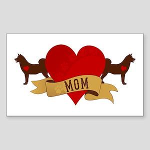 Akita Mom Sticker (Rectangle)