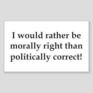 Anti Obama politically correct Sticker