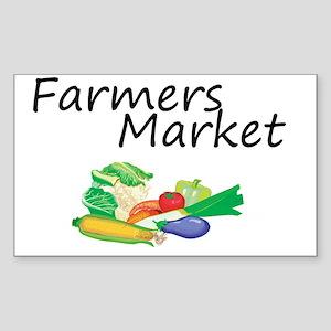 Farmers Market Sticker (Rectangle)