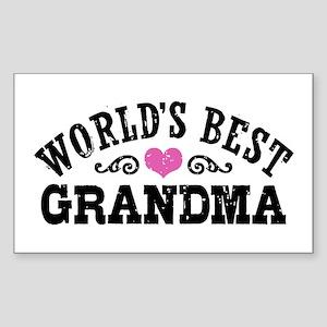 World's Best Grandma Sticker (Rectangle)