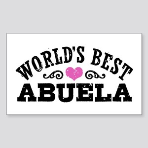 World's Best Abuela Sticker (Rectangle)