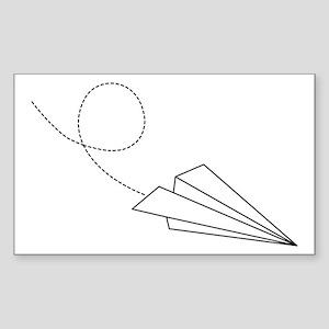 Paper Plane Rectangle Sticker