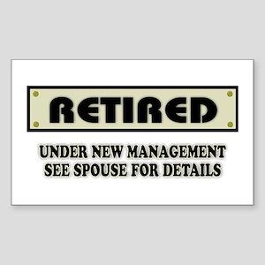 Funny Retirement Gift, Retired Sticker (Rectangle)