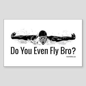 Do You Even Fly Bro? Sticker