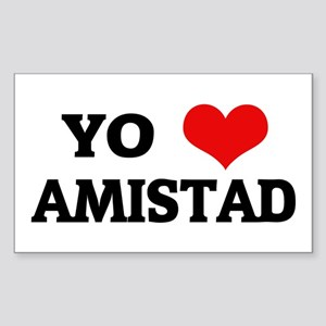 Amo (i love) Amistad Rectangle Sticker