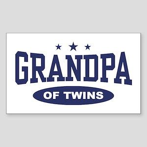 Grandpa of Twins Rectangle Sticker