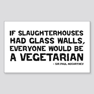 if slaughterhouses... Rectangle Sticker
