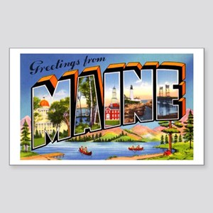 Maine Greetings Rectangle Sticker