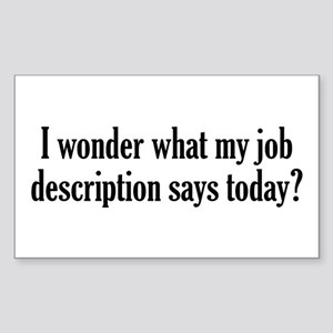 Job Description Sticker