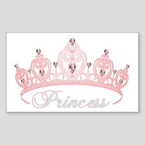 princess crown Sticker (Rectangle)