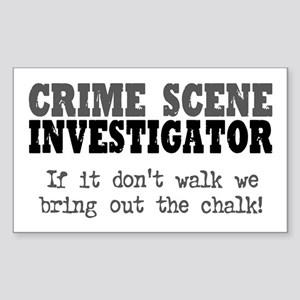 CSI Chalk Lines Rectangle Sticker