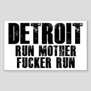 Detroit RUN Sticker