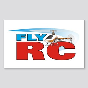 Fly RC Sticker (Rectangle)