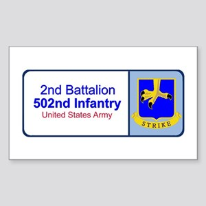 2nd Battalion 502nd Infantry Rectangle Sticker