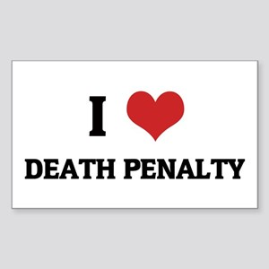 I Love Death Penalty Rectangle Sticker