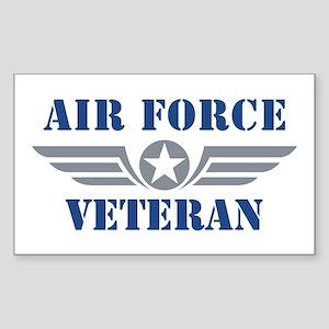 Air Force Veteran Sticker (Rectangle)