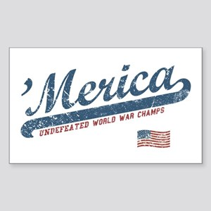 Vintage Team 'Merica Sticker (Rectangle)