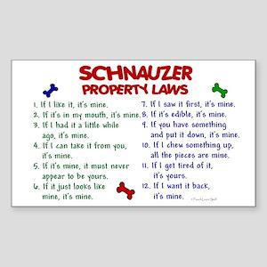 Schnauzer Property Laws 2 Rectangle Sticker