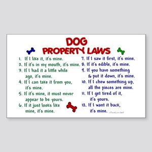 Dog Property Laws 2 Rectangle Sticker