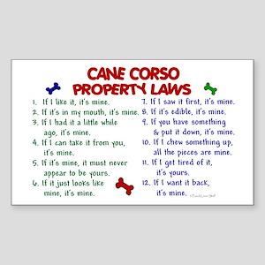 Cane Corso Property Laws 2 Rectangle Sticker