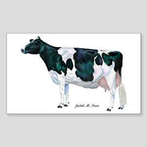 Holstein Cow Sticker (Rectangle)