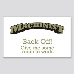 Machinist - Back Off Sticker (Rectangle)