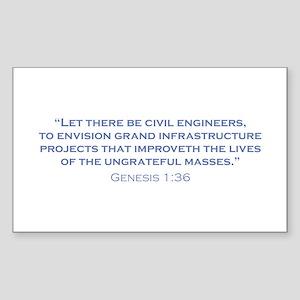 Civil Engineers / Genesis Sticker (Rectangle)