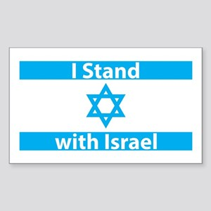 I Stand with Israel - Flag Sticker (Rectangle)