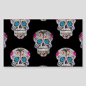 sequin Sugar Skulls Sticker