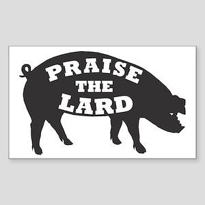 praise lard6 150trans1 Sticker (Rectangle)
