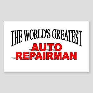 """The World's Greatest Auto Repairman"" Sticker (Rec"