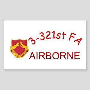 3rd Bn 321st FA Sticker (Rectangle)
