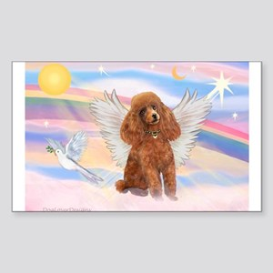Angel/Poodle (apricot Toy/Min) Rectangle Sticker