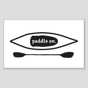 Paddle on Kayak Sticker