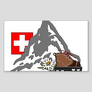 Alpine Hike Rectangle Sticker
