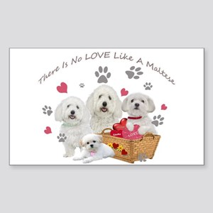 No Love Like A Maltese Sticker