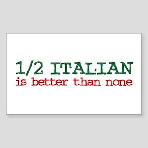 1/2 Italian Rectangle Sticker