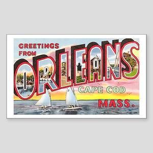 Orleans Cape Cod Massachusetts Rectangle Sticker