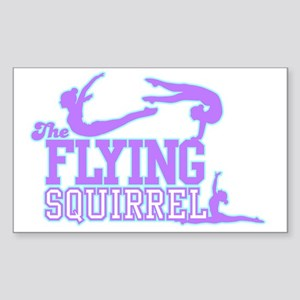 3 Gymnasts (Purple) Sticker (Rectangle)