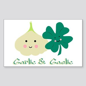 Garlic & Gaelic Rectangle Sticker