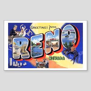 Reno Nevada Greetings Rectangle Sticker