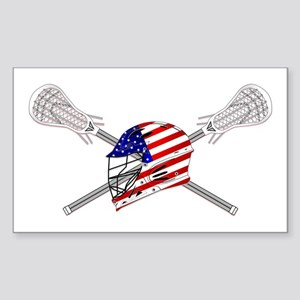 American Flag Lacrosse Helmet Sticker (Rectangle)