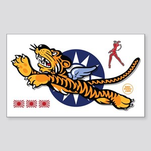 Flying Tigers - Decorated Nose Sticker (Rectangle)