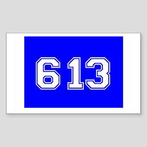 Jewish 613 Rectangle Sticker