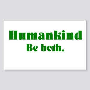 Human Kind Rectangle Sticker